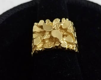 VINTAGE 14K GOLD NUGGET Ring