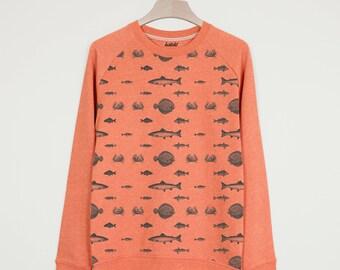 Fish All Over Print Men's Summer Fishing Sweatshirt