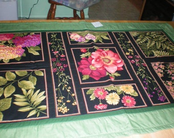 quilted table runner,  topper or bed runner