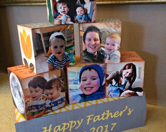 Father's Day Wood Photo Block Set