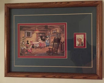 Disney Mickey Mouse & Family Postage Stamp Art