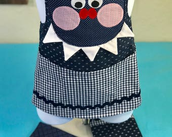 Handmade Child's Apron- Silly Monster