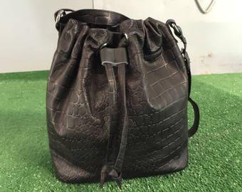 Leather Bucket Bag, Bucket Bag