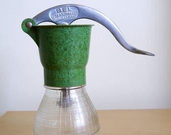 Bel Jubilee Cream Maker Mottled Green Bakelite