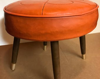 1960's Nagahyde Footstool