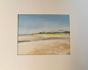 Original Oil Painting, Low Tide at Corn Hill Beach