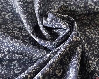 Spring Flowers 4oz Printed Denim Fabric