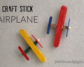 Kids Craft Stick Airplane Kits, build a model airplane craft kit, retro airplane