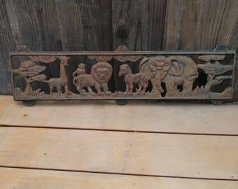 Vintage cast iron African safari