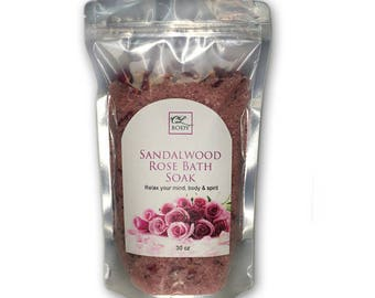 Sandalwood & Rose Bath Salts