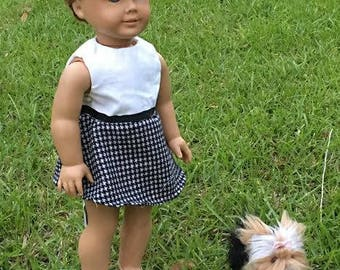 18 inch doll Preppy Dress