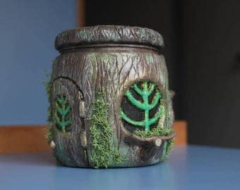 hollow trunk - fairy jar Candle / hollow trunk - candle