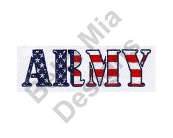 Army - Machine Embroidery Design, Army Text