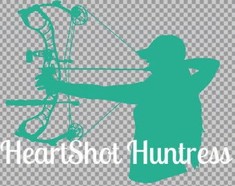 HeartShot Huntress Car Decal