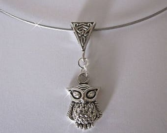 """Stainless steel wire Choker Silver """"Dream vintage"""" trailer"""