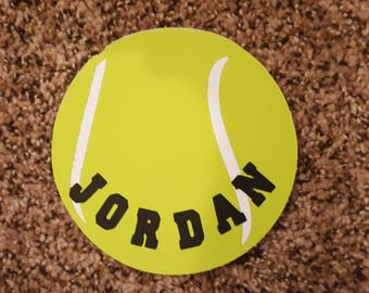 Personalized Tennis Ball Cut Outs