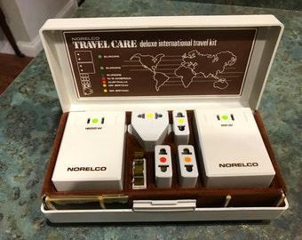 Norelco Travel Care International Wattage Converter Plug In Kit 1970 Era