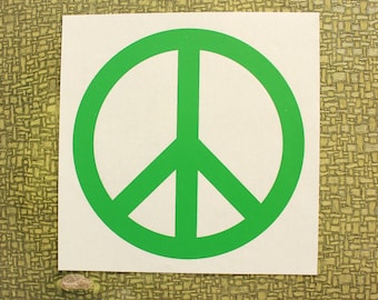 green peace sign heat press transfer iron on for t-shirts, sweatshirts, red lobster