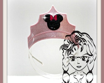 Mr & Miss Ms Mouse PRiNCESS CRoWN ~ In The Hoop Headband ~ Downloadable DiGiTaL Machine Embroidery Design by Carrie