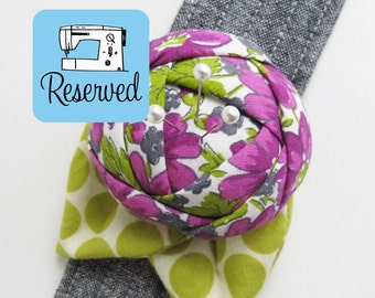 RESERVED Rose Pincushion Cuff
