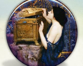 Waterhouse Pandora's Box pocket mirror tartx
