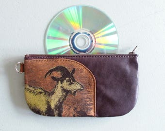 Goat Phone Pouch Recycled Leather