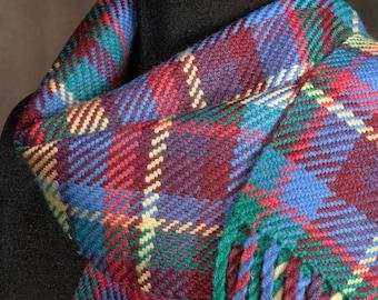 Plaid scarf / Handwoven merino wool