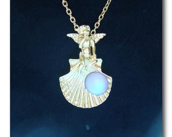 "Kirk's Folly Cupid pin/pendant with interchangeable ""pearls"""