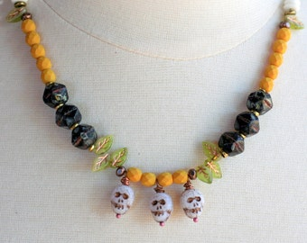 RESERVED FOR SHANNON halloween necklace