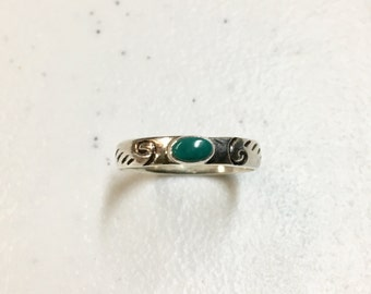 Vintage Ring with Tiny Turquoise