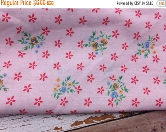SALE- Spring Floral Fabric-Lightweight-Cotton Blend