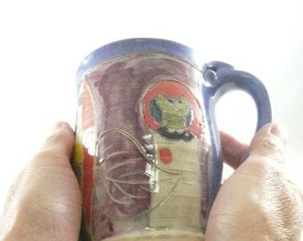 Handmade ceramic mug / big coffee cup, teacup, latte mug, pottery mug, ceramic cup pottery and ceramics,  653