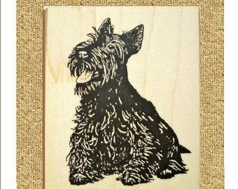 Scottish Terrier Sitting Rubber Stamp Cute Scottie #261