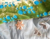CLEARANCE - 2 piece green silk fabric