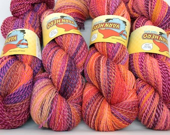 ColorMix Skinny - HAPPY - Fingering Superwash Merino Wool - Hand dyed gradient striping yarn, painted ombre shawl knitting sock