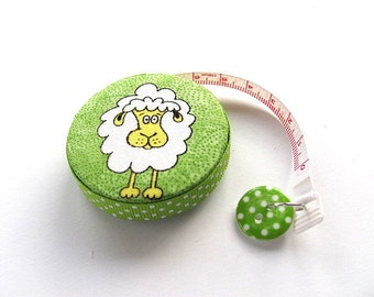 Tape Measure with Fun Sheep Lambs Retractable Measuring Tape
