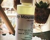 MISTY MOUNTAIN Massage Oil vegan all natural body oil / 2 ounce bottle