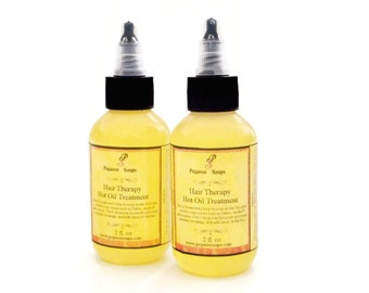 Hair Therapy Hot Oil Treatment 2 oz Made with Natural Oils,  Hair Care- Hair Treatment