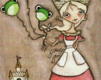 Print of my Original Princess Painting - Charmed - 8 x 10 print