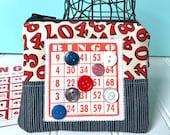 Bingo Change Purse - Coin Purse - Bingo Zipper Pouch - Jewelry Pouch - Small Change Purse - Mini Zippered Pouch - Bingo Christmas Gift