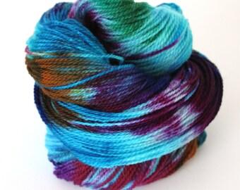 Hand Dyed Yarn Superwash Merino Yarn 100g 400yds 4 ply Sock Wool smy23