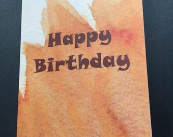 Happy Birthday Greeting Card With Words Inside
