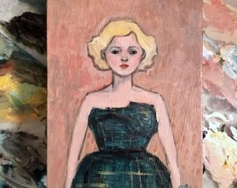 Oil painting portrait - Minette - Original art