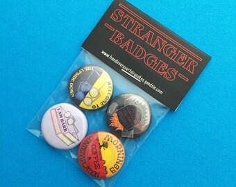 Stranger Things Badge Pack - Button Badges