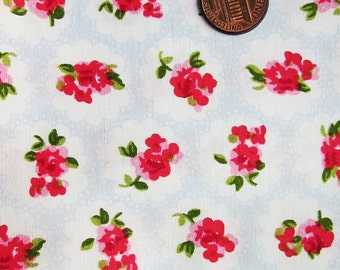 Cute Cotton Fabric - Blue Rose