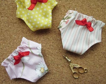 3 panties for Blythe, Lati Yellow, Ming, Meng and Mong  SET 2