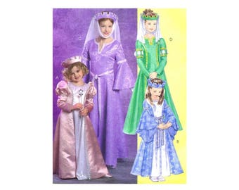 Childrens Princess Costumes McCalls 5207 Sewing Pattern Size 3 - 4 - 5 - 6 UNCUT