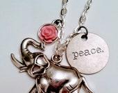 Peace Elephant Necklace