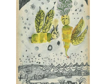 Print of Bees Know It's Spring