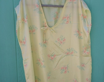 Vintage floral boxy sleepshirt by miss diva